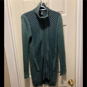 Eddie Bauer long zip up knitted sweater small